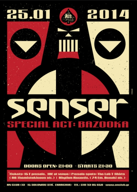 SENSER ('To The Capsules' - Release Live Show) // special act: BAZOOKA